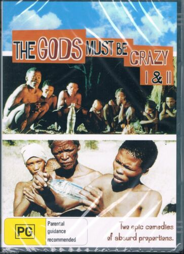 The Gods Must Be Crazy -   Part 1 & 2 New and Sealed DVD