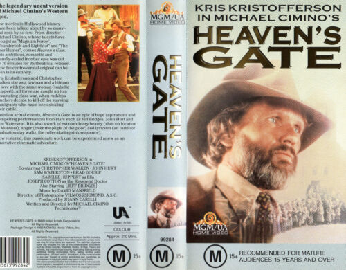 HEAVEN'S GATE - Kristofferson -VHS -PAL -N&S -Never Played -Original Oz release
