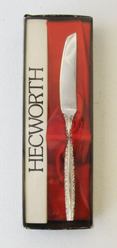 Vintage Hecworth Silverplate Butter Spreading Knife Floral My Lady Design, Boxed