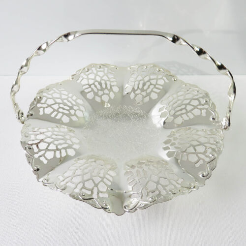Vintage Queen Anne Silverplate Small Cake/Sweet Dish, Floral, Boxed, England