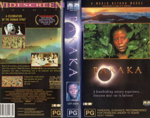 BARAKA - A World Beyond Words - VHS -PAL -NEW -Never played -Original Oz release