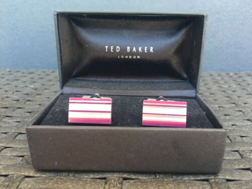 Ted Baker Stripe Printed Cufflinks. Were $130 NOW $50!!
