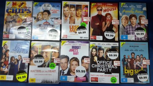 Quality Ex-Rental Used DVD's Assorted Comedy Titles