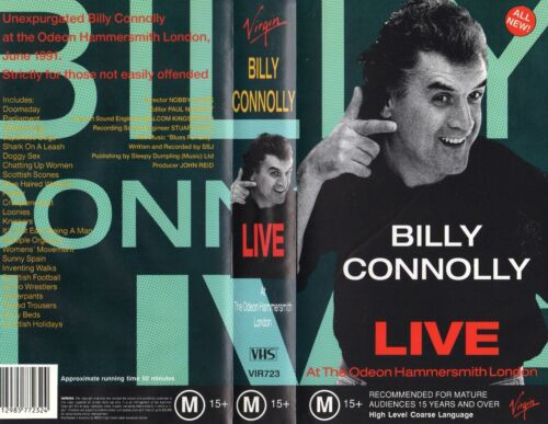 BILLY CONNOLLY LIVE - Odeon London -VHS-PAL-N&S-Never played-Original Oz release