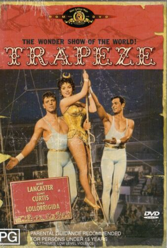 TRAPEZE -Burt Lancaster, Tony Curtis- DVD -NEW and SEALED -Never played -R 4 PAL