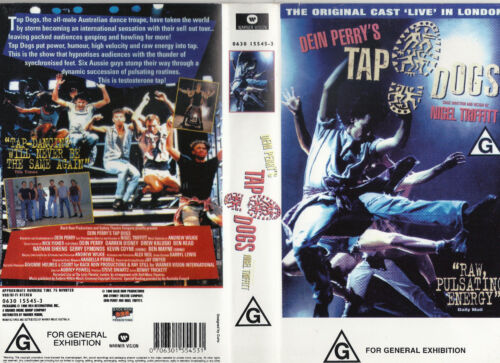 DIEN PERRY'S TAP DOGS LIVE IN LONDON CONCERT ORIGINAL CAST 1996 VHS VIDEO Rare