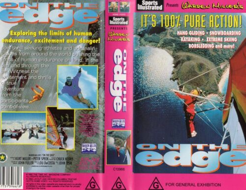 WARREN MILLER'S - ON THE EDGE  -VHS -PAL -NEW -Never played -Original Oz release