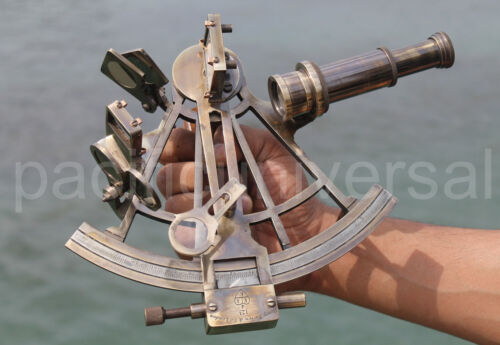 """Handmade Solid Brass Nautical Sextant Maritime Collectible Reproduction Item 8""""."""