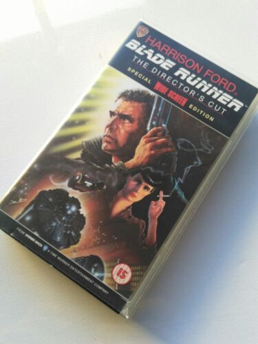 Warner Brothers Blade Runner VHS The Director's Cut Harrison Ford,Ridley Scott.