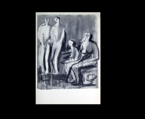 Henry MOORE Lithograph Seated/Stand Study- Ed.107/150 +Cat. Ref. c41* +FRAMING