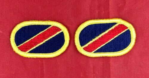 Army Airborne Oval Patch Material Delivery Units cut edge