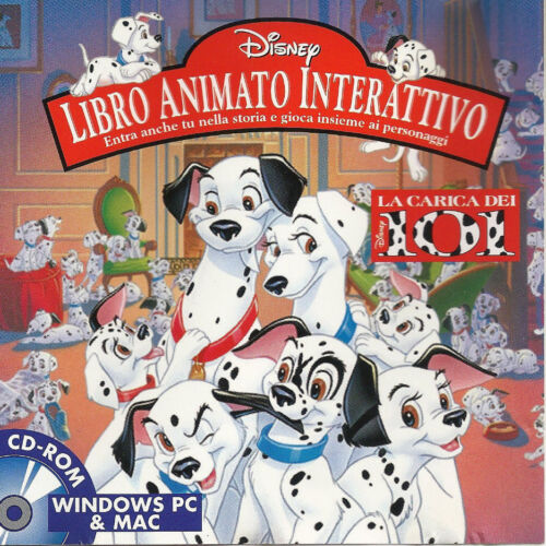 DISNEY 101 DALMATIONS LIBRO ANIMATO INTERATTIVO Italian CD - ROM Windows PC &Mac