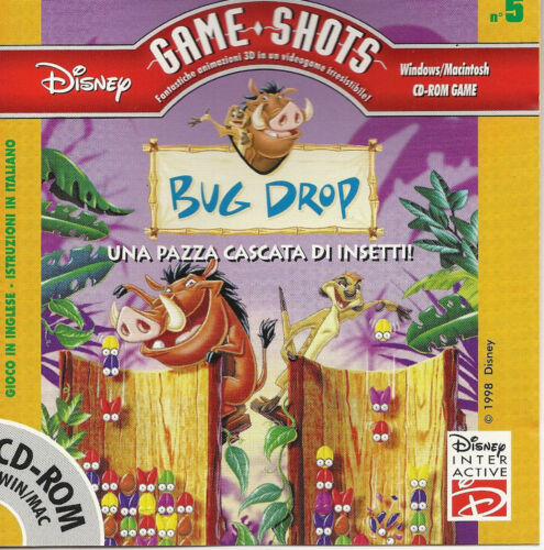 DISNEY GAME SHOTS BUG DROP Una Pazza Cascata Di Insetti Italian CD ROM Win/Mac