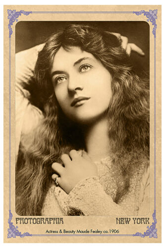 MAUDE FEALY Silent Film Actress Vintage Photo A+ Reprint Cabinet Card CDV