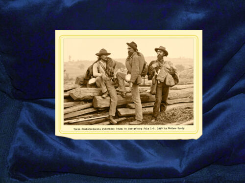 CONFEDERATE PRISONERS AT GETTYSBURG 1863 Cabinet Card Photograph Civil War RP