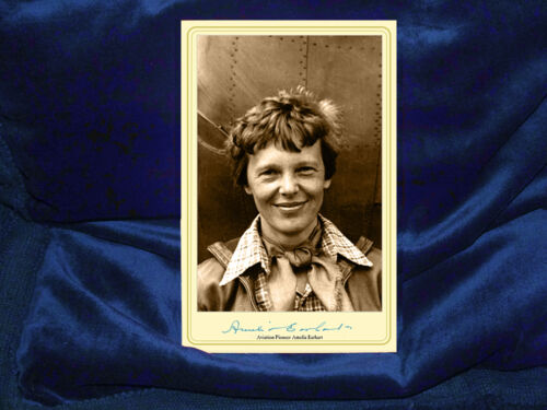 AMELIA EARHART Aviation Pioneer Feminist Cabinet Card Photograph A+ RP