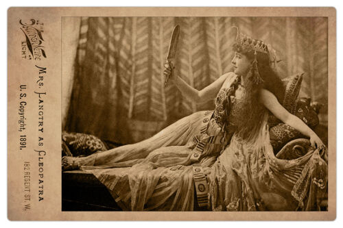 LILLIE LANGTRY Actress Legend as CLEOPATRA Photograph Cabinet Card Vintage RP