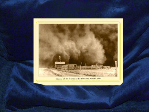 HORRORS OF THE DUST BOWL1936 Cabinet Card Photograph A++ Reprint