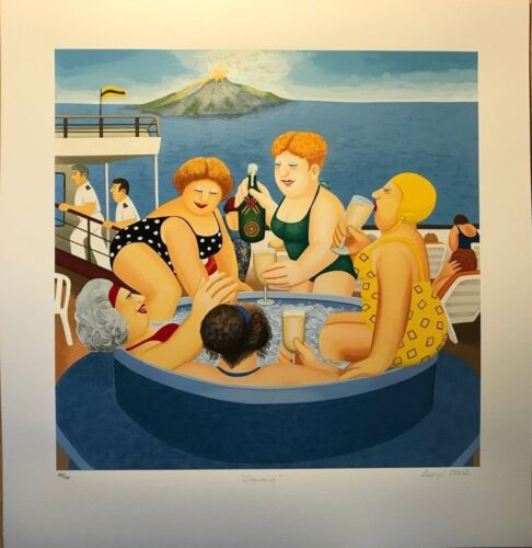 """BERYL COOK """"Cruising"""" Pencil Signed SERIGRAPH  MINT CONDITION Limited Ed."""