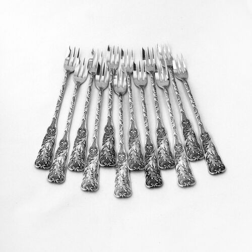 St Cloud Cocktail Forks 12 Sterling Silver Gorham Silversmiths 1885