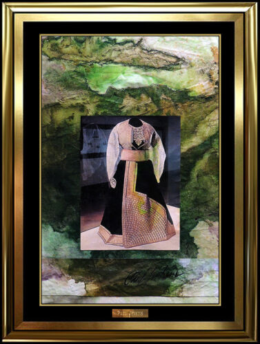 Paul Jenkins Original Oil Painting On Canvas Collage Signed Fashion Acrylic Art