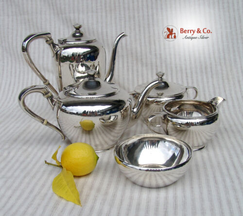Arts and Crafts 5 Piece Tea and Coffee Set Karl Leinonen Sterling Silver 1940