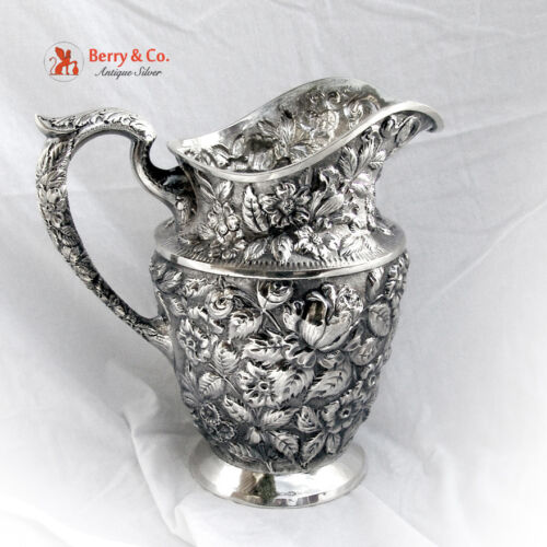 Baltimore Rose Water Pitcher Schofield 1905 Sterling Silver