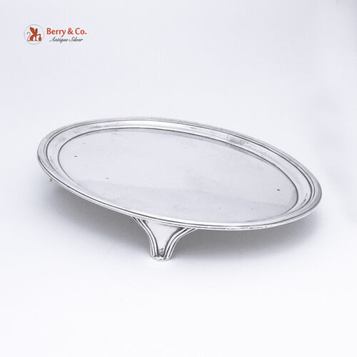 Georgian Oval Tea Pot Tray Sterling Silver Smith II And Hayter 1801