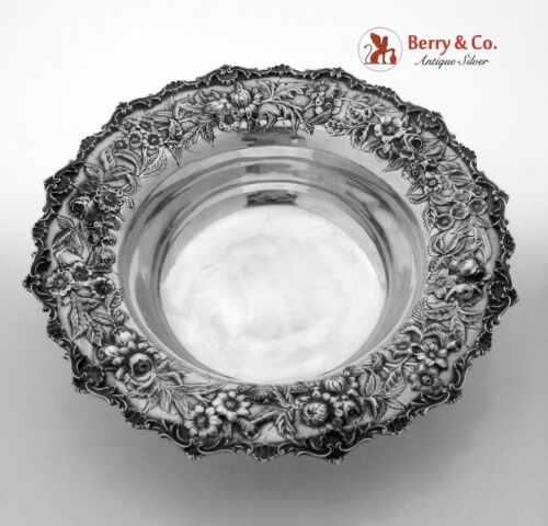 Repousse Large Serving Bowl S Kirk And Son 1940 Sterling Silver