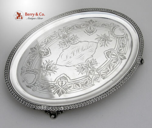 Oval Footed Salver Coin Silver Wood and Hughes 1860