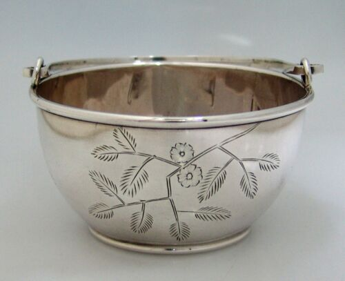 Aesthetic Period Sterling Silver Gorham Basket Providence 1882