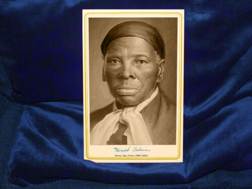 HARRIET TUBMAN Cabinet Card Photograph Vintage Photo A++ RP Autograph