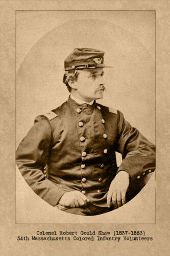 "ROBERT GOULD SHAW ""GLORY"" Union Officer Cabinet Card Photograph Civil War"