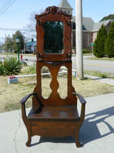 Small Oak Halltree~~~Orginial Finish~~~circa 1900