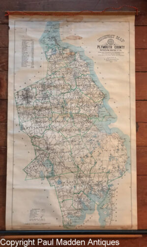 1904 Highway Map of Plymouth County, Massachusetts