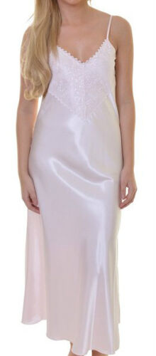 Long White Satin Nightgown - multiple sizes available