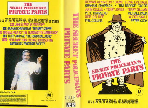THE SECRET POLICEMAN'S PRIVATE PARTS -VHS -PAL -NEW -Never Played!! - VERY RARE!