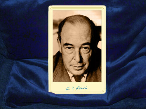 C.S. LEWIS Oxford Don Writer Fantasist Theologian Cabinet Card Photograph RP