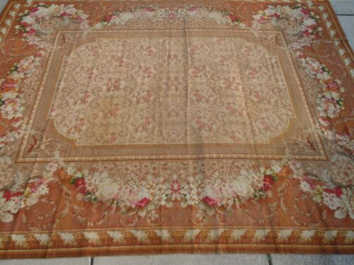 "BEST ""ENGLISH MANOR""  AXMINISTER ROSE/MEDALLION WOOL RUG...EXQUISITE!"