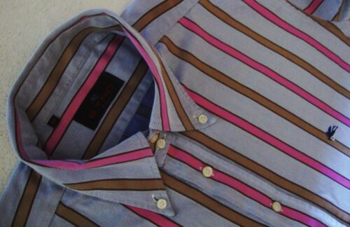 SHIRT man  vintage ETRO Milano tg.44-XL circa  made in Italy rare