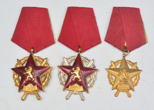 Socialist Bulgaria, Order of Bravery 1st 2nd 3rd classOriginal Period Items - 13981