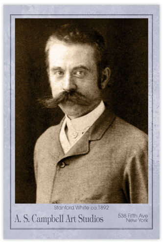 STANFORD WHITE Legendary Gilded Age Architect 1892 Photograph Cabinet Card CDV