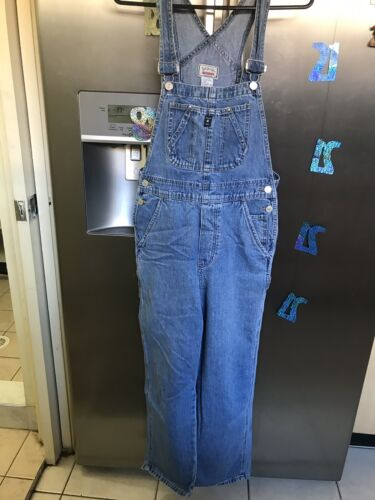 Girls Light Blue Wash Overalls Preowned