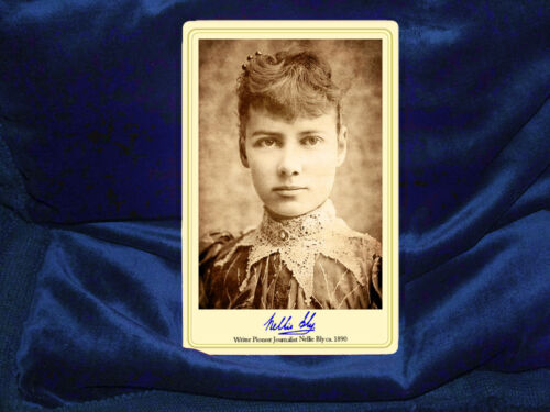 NELLIE BLY WRITER PIONEER JOURNALIST Autograph Cabinet Card Photo Feminist