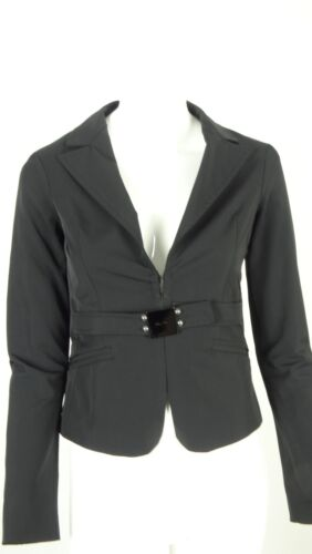 BETTY BLUE GIACCA JACKET DONNA NERA TAG 42