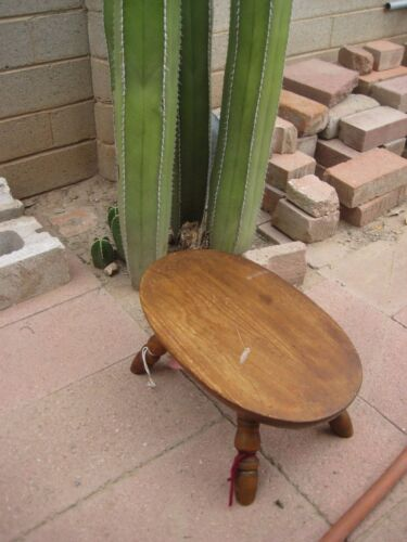 "Vintage *** 15"" x 9"" Top *** Wooden STOOL STEP SEAT Country Farm Kitchen Decor"