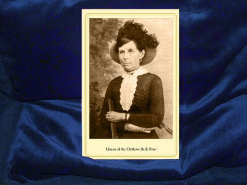 BELLE STARR Queen of the Outlaws Cabinet Card Photograph Vintage A+