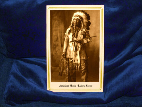 AMERICAN HORSE LAKOTA CHIEF Cabinet Card Photograph Vintage NATIVE AMERICAN CDV