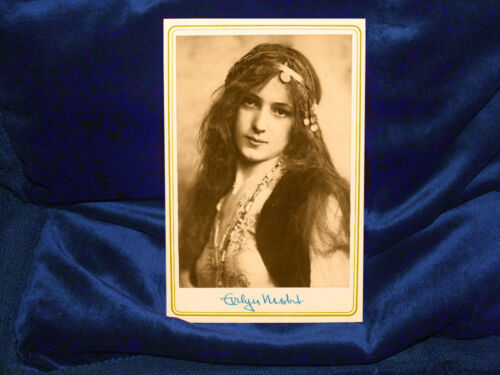 EVELYN NESBIT 1900 1st STUDY By RUDOLPH EICKENMEYER Cabinet Card Photograph RP