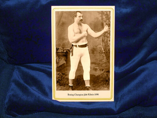 JAKE KILRAIN US Boxing Champ 1898 Cabinet Card Photo Vintage Fights Heavyweight